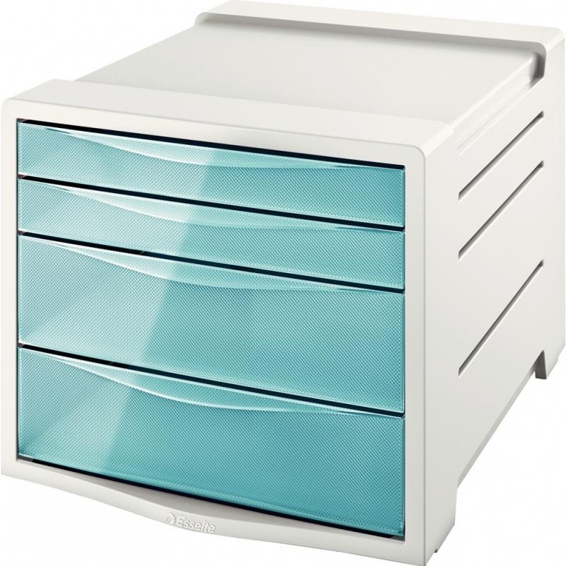 Pojemnik z szufladami Esselte Colour Ice niebieski