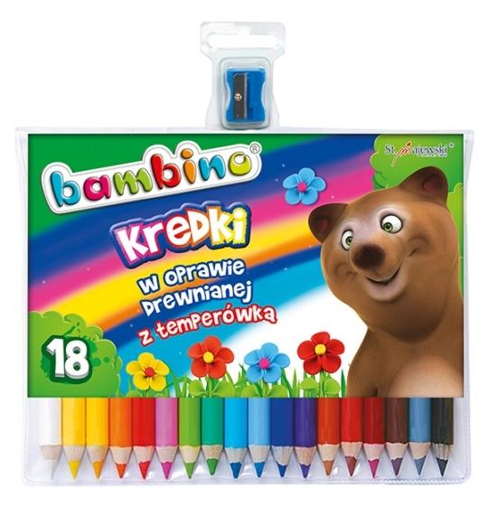 Kredki ołówkowe Bambino 18 kolorów + temperówka