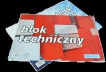 Blok techniczny biały A4 10 kartek
