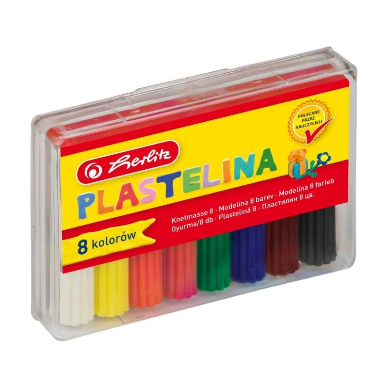 Plastelina HERLITZ 8 kolorów