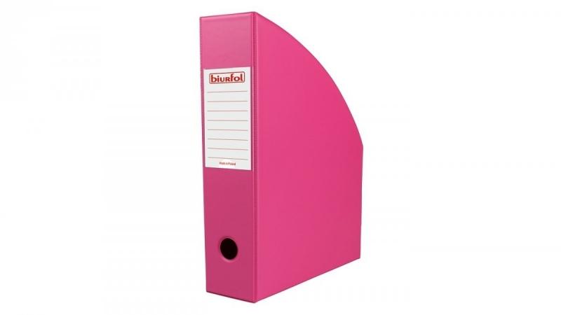 Pojemnik na czasopisma 7cm różowy Biurfol
