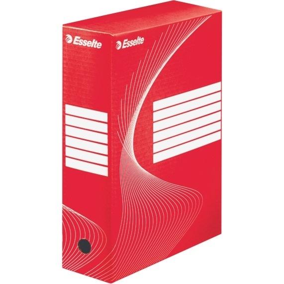 Pudełka archiwizacyjne ESSELTE BOXY 100mm czerwone