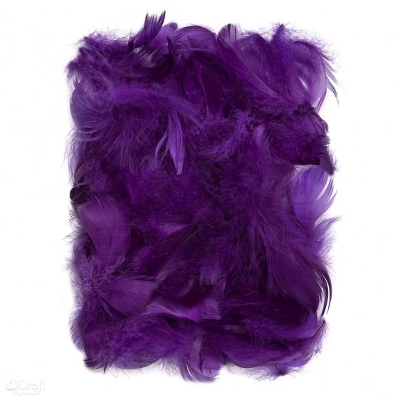 Piórka 5-12cm 10g purpurowy