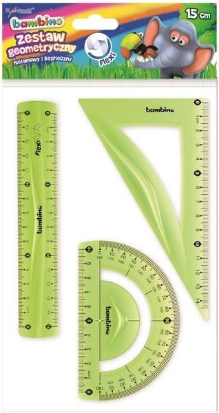 Zestaw geometryczny elastyczny 15cm 3 elementy Bambino