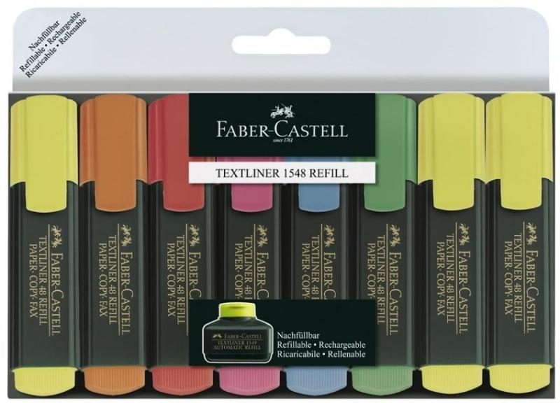 Zakreślacz Textliner 8szt w etui Faber-Castell