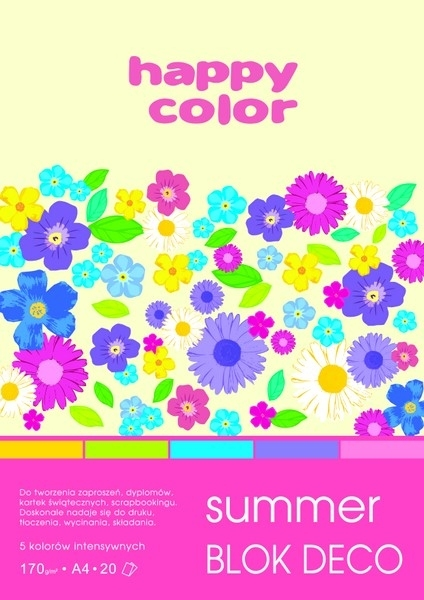 Happy Color blok kolor mix Summer A4/20 170g Deco