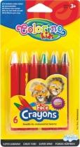 Kredki do malowania twarzy 6 kolorów Colorino