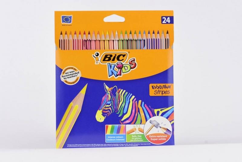 Kredki ołówkowe 24 kolory BIC Evolution