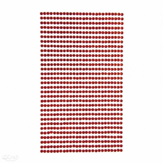Kryształki samoprzylepne 3mm 806 red Dalprint