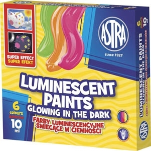 Farby luminescencyjne ASTRA 6 kolorów 10 ml