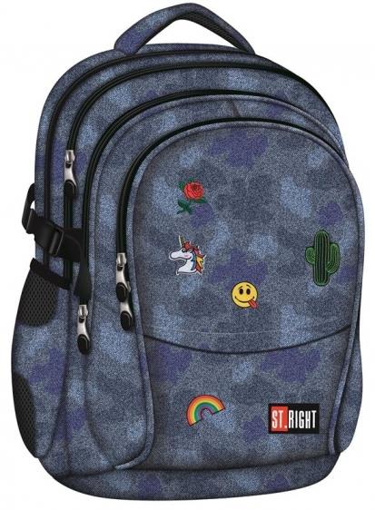 Plecak młodzieżowy St.Right Jeans&Badges BP1