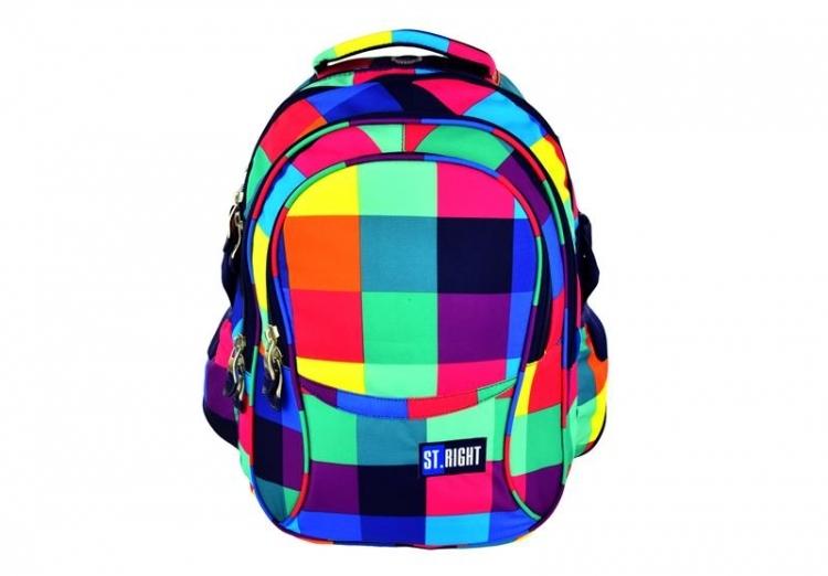 Plecak młodzieżowy St.Right  Maxi Squares BP1