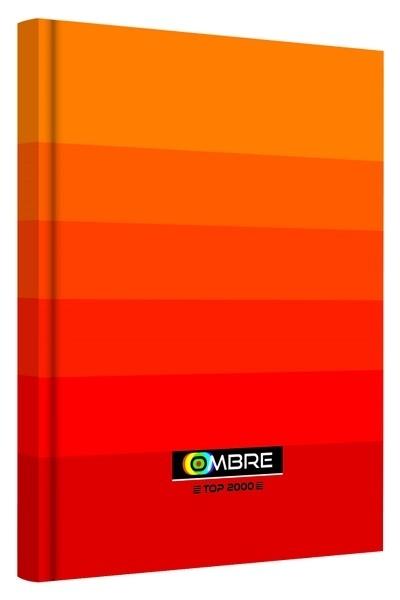 Brulion A5 96k kratka Ombre pomarańczowy