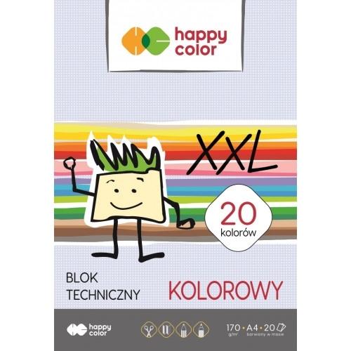 Happy Color blok techniczny kolorowy A3/20k 170g