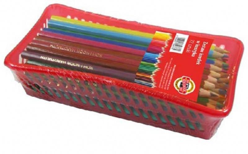 Kredki ołówkowe szkolne w koszyku 72szt Koh-I-Noor
