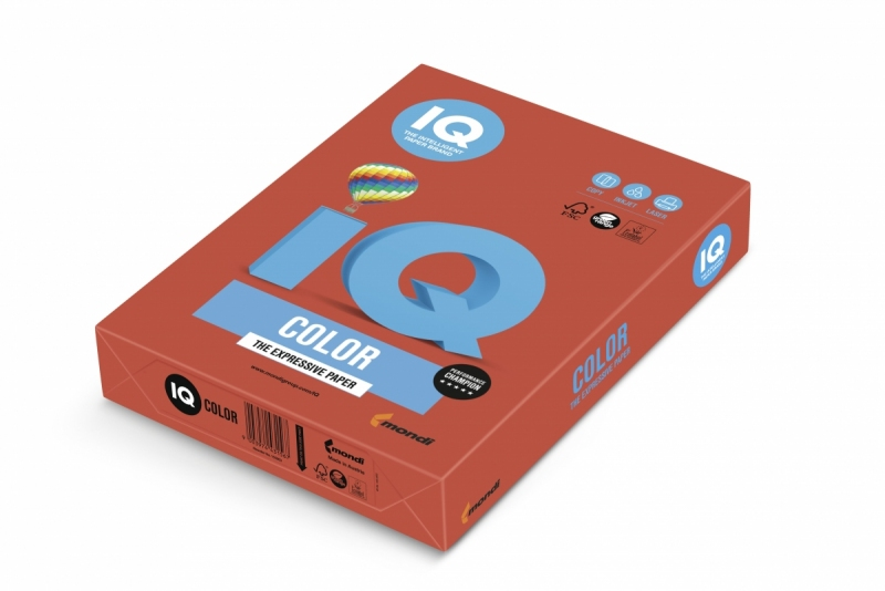 Papier ksero A4/500 80g IQ Color czerwony