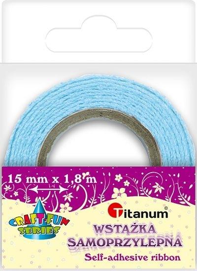 Wstążka bawełniana koronkowa j. niebiesk 15mmx1,8m