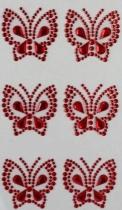 Kryształki dekoracyjne samoprzylepne kreatywne motyle 36mm 6szt