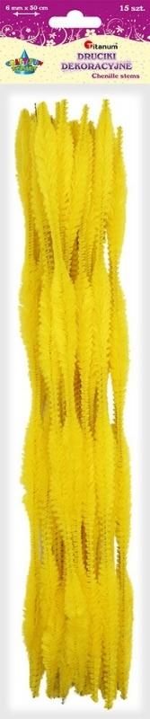 Druciki kreatywne fala 0,6 x 30cm A`15 żółte