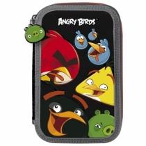 Piórnik dwukomorowy z wyposażeniem Angry Birds 10