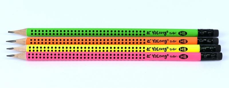 Ołówek trójkątny z gumką HB Yalong