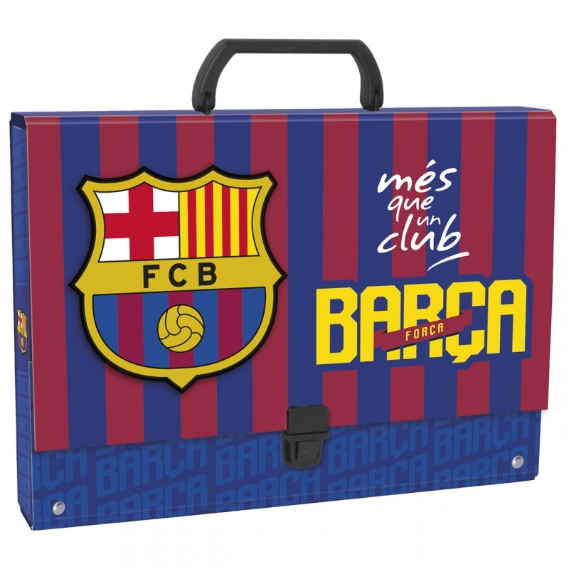 Teczka z rączką gruba A4 FC Barcelona