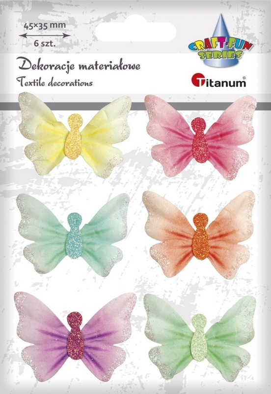 Naklejki do dekoracji motyle pastelowe A`6