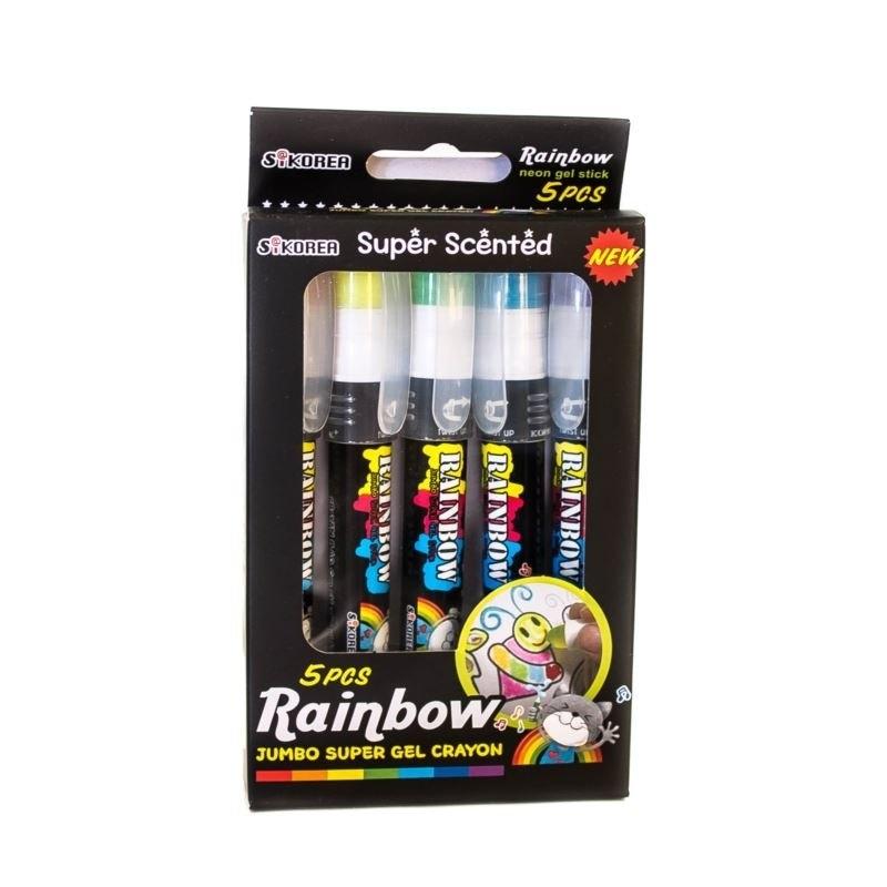 Kredki żelowe zapachowe Rainbow 5 kolorów