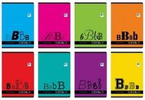 Zeszyt A5/32 kart. trzy linia kolor BLACK&BLUE