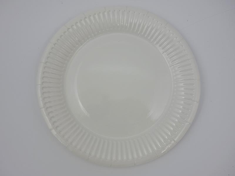 Talerz papierowy biały 17,5cml A`100