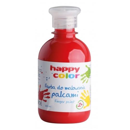 Farba do malowania palcami 300ml czerwona Happy