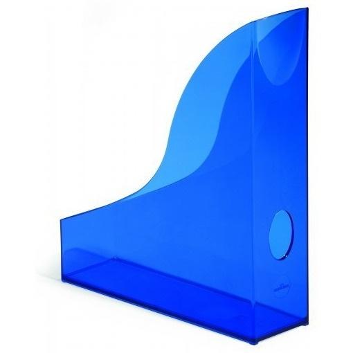 Pojemnik na czasopisma Basic A4 niebieski - przezroczysty Durable