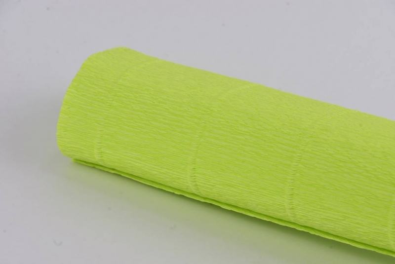 Krepina włoska 0,5x2,5m zielony acid  nr 558