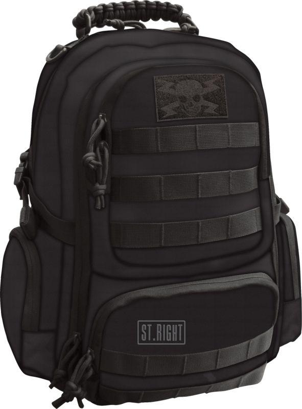 Plecak młodzieżowy St.Right Military Black BP36
