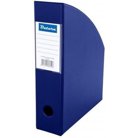 Pojemnik na czasopisma A4 10cm niebieski PCV Datura