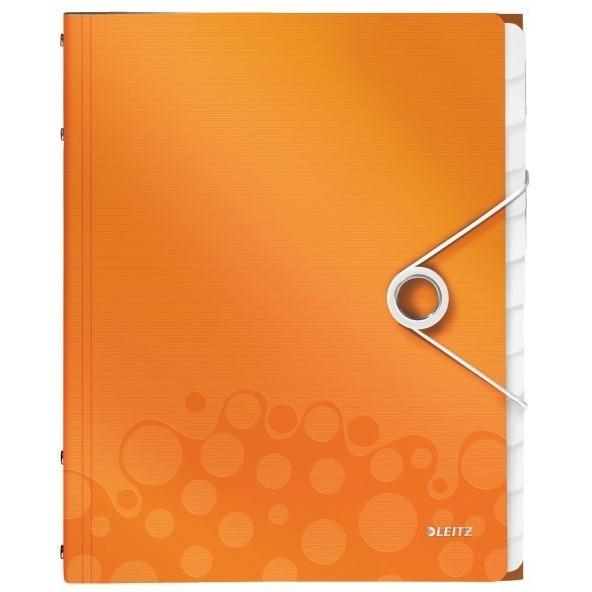 Teczka 12 przegródek A4 200k pomarańczowa Leitz Wow