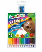 Kredki  Bambino ołówkowe 12 kolorów + temperówka
