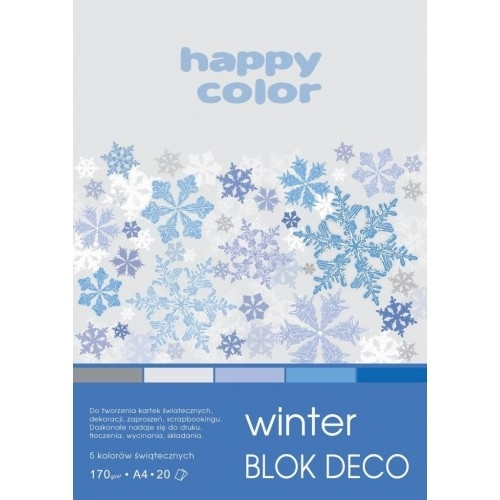 Happy Color blok kolor mix Winter A4/20 170g Deco