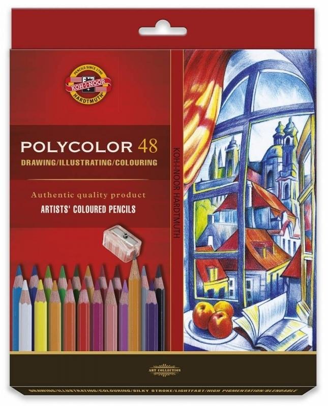 Kredki ołówkowe 48 kolory Polycolor Koh-I-Noor