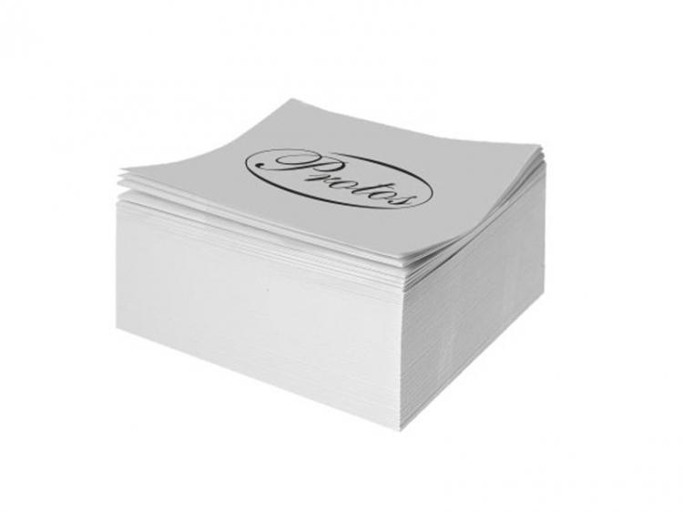 Kostka nieklejona biała  8,4 x 8,4 x 3,5 cm