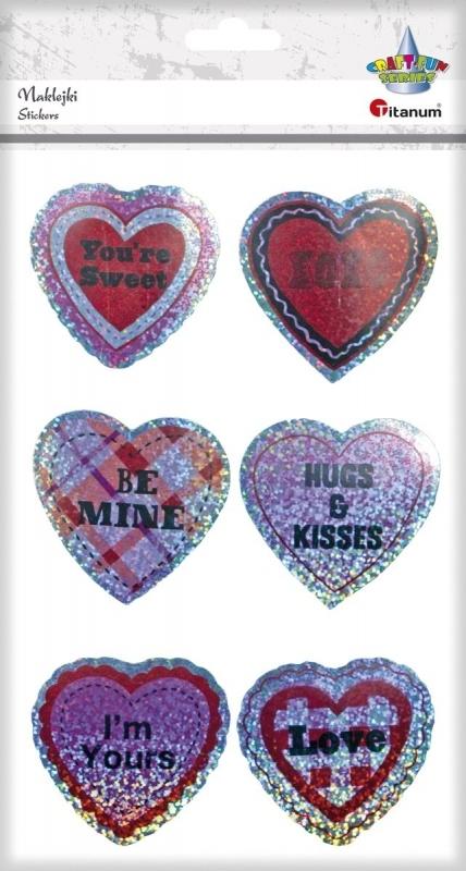 Naklejki do dekoracji serca A`6