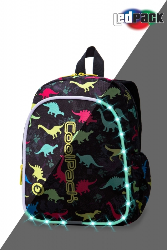 Plecak dziecięcy Coolpack Bobby Dinosaurs Led