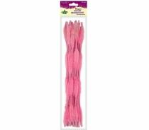 Druciki kreatywne fala różowe 0,6x30cm 15szt