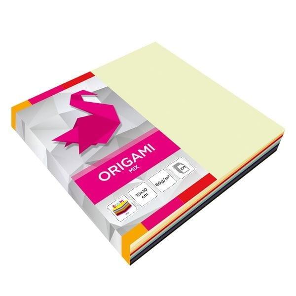 Papier do origami 10*10 mix kolor op.100szt