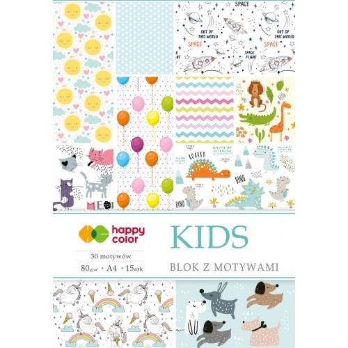 Happy Color blok z motywem Kids A4 15 ark