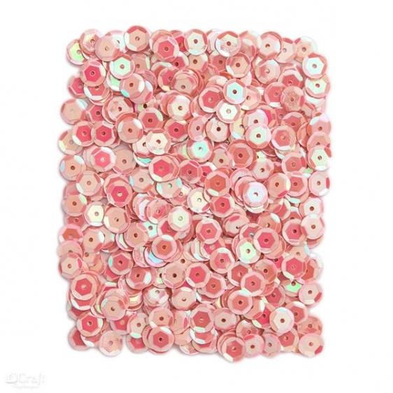 Cekiny opalizujące 9mm 15g rózowe  Dalprint