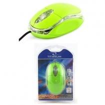 Myszka przewodowa optyczna Titanum RAPTOR 3D USB TM102G Zielona