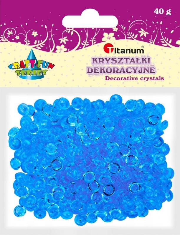 Kryształki ozdobne plastikowe niebieskie 40g