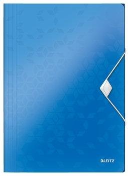 Teczka z gumką Leitz Wow 15mm A4 niebieska
