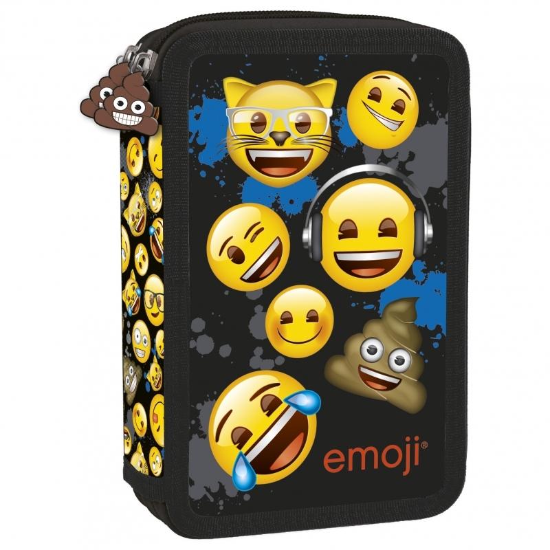 Piórnik dwukomorowy z wyposażeniem Emoji 12